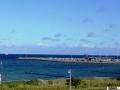 Blick über das Meer und dem Yachthafen